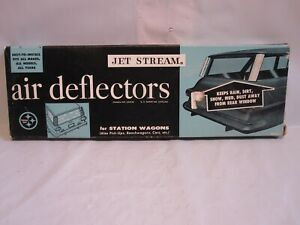 Vtg 50 s Jet Stream Air Deflectors For Station Wagon Car Truck New In Box Rare