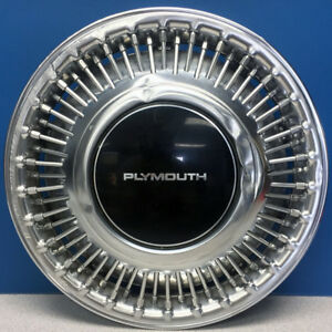 One 1989 1990 Plymouth Voyager 470b 14 Wire Hubcap Wheel Cover Oem 4284904