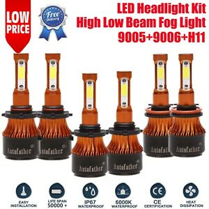 6pcs 9005 9006 H11 Osram Led Headlight Bulbs 5040w 4 side For Honda Civic 04 15