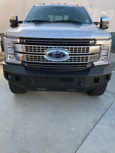 For Ford F 250 Super Duty 11 16 Fortis Full Width Black Front Hd Bumper
