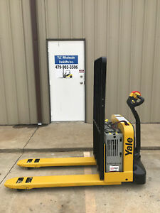 2015 Yale Electric Pallet Jack Model Mpw050 Forklift Walkie Only 2283 Hours