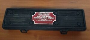 Craftsman Dial Indicating Torque Control Wrench 9 44442 1 2 Drive W Case