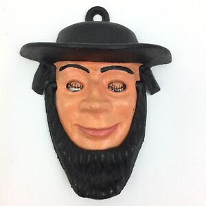 Vintage Wilton Cast Iron Amish Man Door Knocker With Moving Eyes Excellent 4422