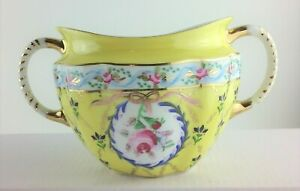 Adeline By Royal Danube Sugar Bowl Without Lid Pattern 1886 Yellow Vintage