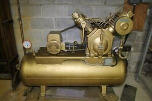 Ingersoll Rand Two stage Type 30 Air Compressor Pump 5 Hp