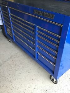 Mac Tools Triple Bank Toolbox Blue 19 Drawers local Pickup Only