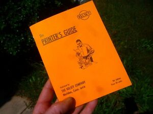 The Printer s Guide The Kelsey Co Nice Reprint 9th Ed Letterpress All You Need
