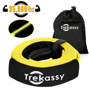 3 X 20 Car Tow Rope Strap Heavy Duty Recovery Towing Pull Cable Road 35 000lbs