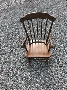 Antique Childs Rocking Chair Solid Oak