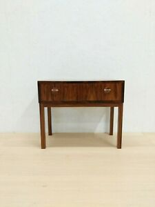 Vintage Danish Mid Century Modern Rosewood Side Table Chest