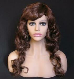 New Female Healthy Color Skin Fiberglass Mannequin Head Bust Wigs jewelry Ske15