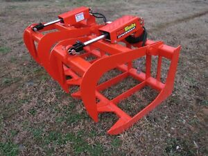 Kubota Tractor Loader 60 Dual Cylinder Root Rake Grapple Attachment 99 Ship