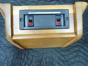Van Overhead Teak Oak Wood Overhead Switch Console Valance Tv W Leds Chevy Ford