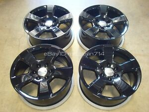 20 14 18 Silverado Tahoe Lt Ltz Z71 Black Wheels Rims Oem Factory 5652 15 16 17