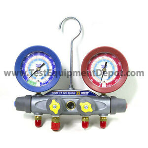 Yellow Jacket 46040 Manifold Only R b Gauges Psi R 22 134a 404a