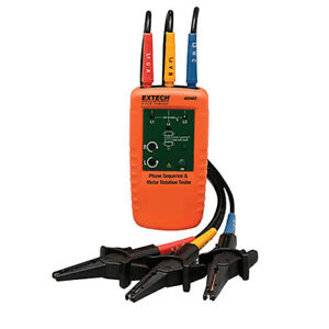 Extech 480403 Motor Rotation 3 phase Tester Tests Phase Sequence