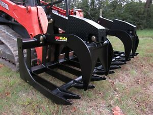Bobcat Skid Steer Attachment 84 Extreme Duty Root Grapple Bucket Ship 199