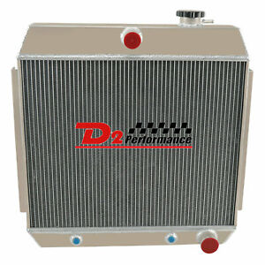 4 Row All Aluminum Radiator For Chevy Bel Air Nomad Del Ray V8 Engine 1955 56 57