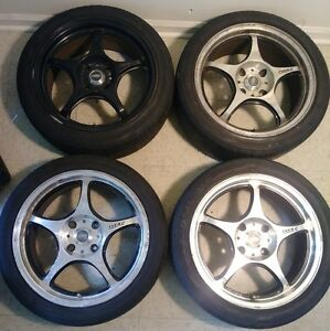 17 5zigen Fn01r C 4x114 3 Jdm Pro Racer Wheels Vip Rim Light Weight Racing Rare