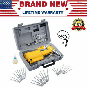 Pneumatic 3 16 air Hydraulic Pop Rivet Gun Riveter Riveting Tool W case Portable