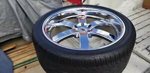 24 Black Rhino Pondora Chrome Rims Toyo Tires