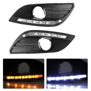 For Ford Focus Sedan 2009 2013 Front Bumper Fog Light Lamp Cover Grille Lamp Kit