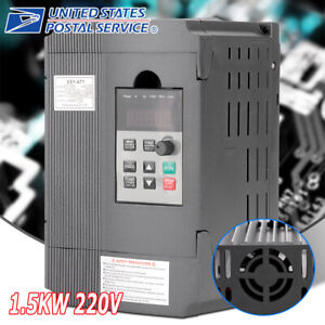 220v 1 5kw Single Phase Vfd Variable Frequency Speed Controller Drive Inverter S