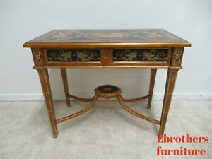 Italian Regency Gold Paint Decorated Console Table Writing Desk