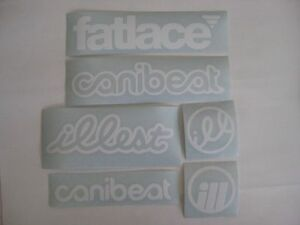 6 Sticker Pack1 Any Color Vinyl Decal Fatlace Illest Canibeat Jdm Drift Race Car