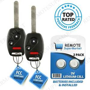 2 Car Key Fob Entry Remote For 2007 2008 2009 2010 2011 2012 2013 Honda Crv Cr v