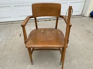 Vtg 1960s Wood Library Chair Office Desk Chair Retro Mcm Furniture Mid Century