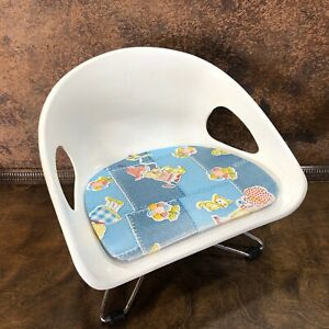 Vintage Mid Century Retro Cosco Child Chair Stool Booster Seat W Hair Pin Legs