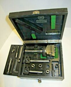 Wohlhaupter Upa 3 Boring Facing Head W Accessories Case R 8 Shank Germany