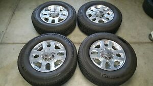 Chevy Gmc Oem Factory 18 Inch Wheels Rims And Tires 8 Lug 2500 3500 Hd Truck