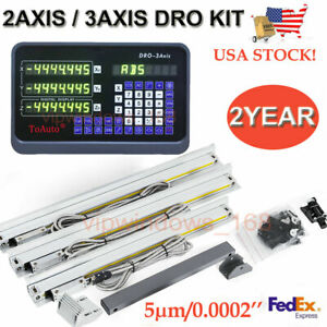 2 Axis 3 Axis Digital Readout ttl Linear Glass Scale Cnc Miling Lathe Dro Kit Us