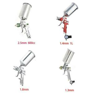 1 2 5mm Hvlp Air Spray Gun Kit Gravity Feed Paint Car Primer Basecoat Clearcoat