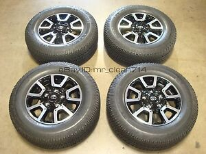 18 14 19 Toyota Tundra Trd Off Road Wheels Rims Tires Oem Factory Sequoia Alloy