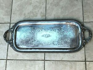 English Silverplate Sandwich Tray