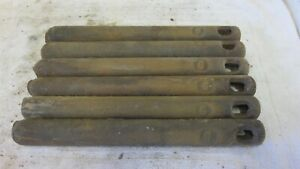 6 Antique Vintage Cast Iron 6 Lb Window Sash Weights Salvaged Architectural