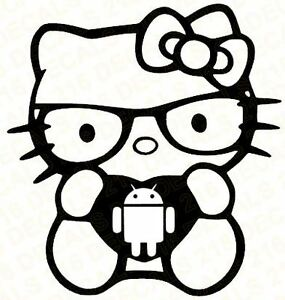 Hello Kitty Decal Cell Phone Android Car Vinyl Window Sticker Laptop Tablet