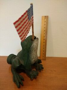 Antique Early 1900s Cast Iron Frog Garden Lawn Sprinkler Original First Paint