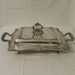 Antique W S Blackinton Silverplate Georgian Shell 5 Piece Buffer Server Warmer
