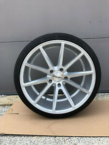 Vossen Vff1 Porsche Wheels tires 5x130 Silver 20x11 20x8 5 Staggered 4 Wheels