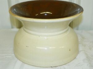 Vintage Antique Earthenware 8 Wide Crock Water Feeder