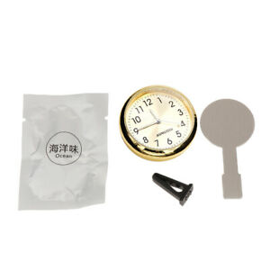 Round Mini Car Clock Watch Car Automotive Decoration Clock In Car Golden