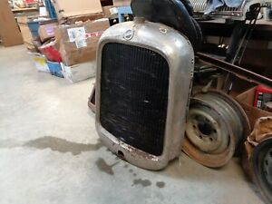 Vintage 1925 Studebaker Grille Shell Radiator Hot Rod Repurpose W Emblem