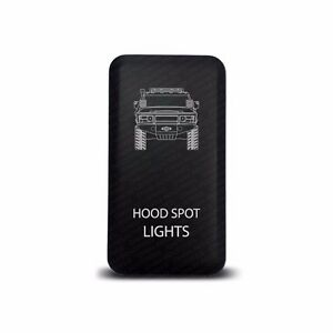 Ch4x4 Toyota Push Switch Fj Cruiser Hood Spot Lights Symbol Red Led