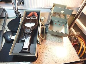 Vintage Baklite Bruno Industries Me 79a usm 33 Multimeter In An usm 33 Metal Box