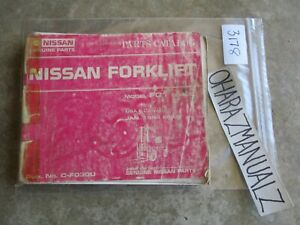 1984 Nissan Forklift Model Fo1 Series Parts Catalog Manual
