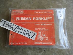 1988 Nissan Forklift Model Ho2 Series Parts Catalog Manual